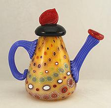 Marrakesh Teapot 2 by Ken Hanson and Ingrid Hanson (Art Glass Teapot)