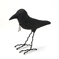 Song Crow by Kamilla White (Polymer Clay Sculpture)