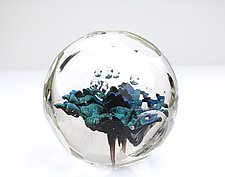 Space Algae Paperweight by Benjamin Silver (Art Glass Paperweight)