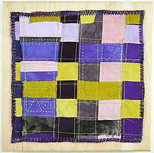Orchid Grid #7 by Ayn Hanna (Fiber Wall Hanging)