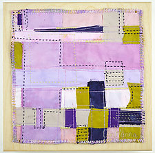 Orchid Grid #6 by Ayn Hanna (Fiber Wall Hanging)