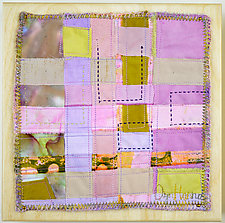 Orchid Grid #4 by Ayn Hanna (Fiber Wall Hanging)