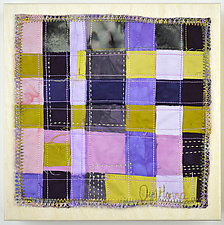 Orchid Grid #3 by Ayn Hanna (Fiber Wall Hanging)