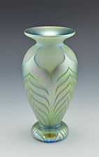 Private Collection White Vase III by Donald  Carlson (Art Glass Vase)