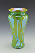 Private Collection Green Vase by Donald  Carlson (Art Glass Vase)
