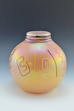 Private Collection Siletz Basket by Donald  Carlson (Art Glass Vase)