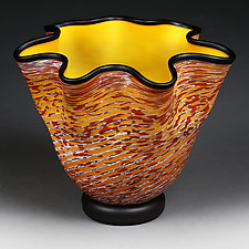 Zymova Vyshnya (Winter Cherries) Prototype by Eric Bladholm (Art Glass Vessel)