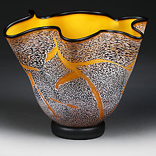 Solar Sun Experimental Shape by Eric Bladholm (Art Glass Vessel)