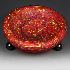 Osinni Vyshni (Autumn Cherries) Prototype Bowl by Eric Bladholm (Art Glass Bowl)