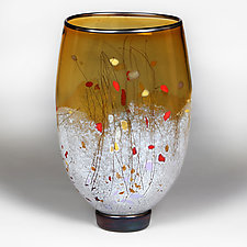 Amber Ascension by Eric Bladholm (Art Glass Vase)