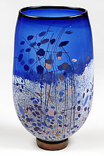 Indigo Inspiration by Eric Bladholm (Art Glass Vase)