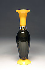 Amber Optic Stack by Scott Summerfield (Art Glass Vessel)