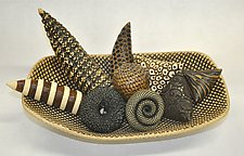 Oblong Bowl of Ceramic Rattles by Kelly Jean Ohl (Ceramic Sculpture)