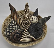 Bowl with Ceramic Rattles by Kelly Jean Ohl (Ceramic Sculpture)