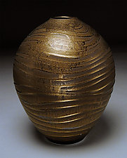 Bronze Wave by Nicholas Bernard (Ceramic Vessel)