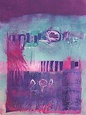 Three Friends by Sandra Humphries (Monotype Print)