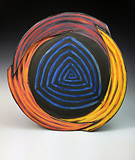 Large Triangle Plate by Thomas Harris (Ceramic Platter)