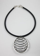 Cage Necklace by Melissa Finelli (Silver Necklace)