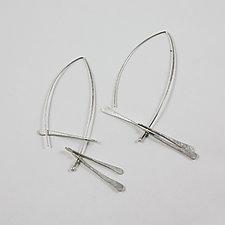 Whirligig Earrings by Melissa Finelli (Silver Earrings)