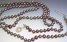 Peacock Brown Pearl Necklace by Diana Lovett (Pearl Necklace)