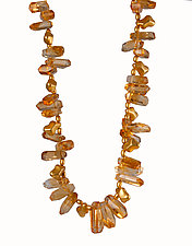 Golden Goddess Necklace by Lori Gottlieb (Beaded Necklace)