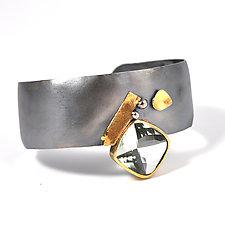 Prasiolite Cuff Bracelet by Lori Gottlieb (Gold, Silver & Stone Bracelet)