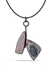 Lush Lavender Drusy Necklace by Lori Gottlieb (Silver & Stone Necklace)