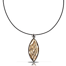 Golden Leaf Necklace by Lori Gottlieb (Gold & Silver Necklace)