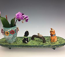 Cat Conversation by Lilia Venier (Ceramic Vase)