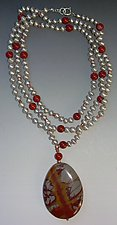 Jasper and Pearl Necklace by Diana Lovett (Pearl Necklace)