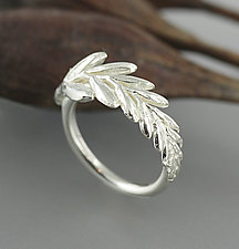 Botanical Flower Bud Ring by Sarah Hood (Silver Ring)
