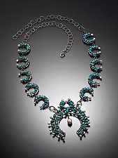 Squash Blossom Necklace by Randi Chervitz (Silver & Stone Necklace)