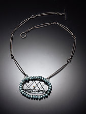 Starburst Necklace with Amazonite by Randi Chervitz (Silver & Stone Necklace)