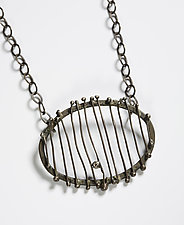 Oval Bones Pendant by Randi Chervitz (Silver Necklace)