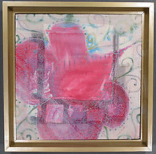 Crimson Little Flower 3 by Natalya Aikens (Fiber Wall Hanging)