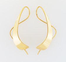 Gold Splash Earring by Ben Dyer (Gold Earrings)
