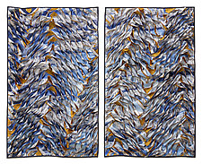 School diptych by Tim Harding (Fiber Wall Hanging)