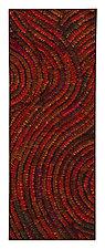 Crimson Swirl Banner by Tim Harding (Fiber Wall Hanging)