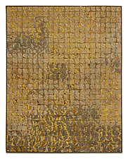 Pale Gold Grid # 2 by Tim Harding (Fiber Wall Hanging)