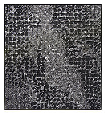 Silver Crosshatch Figure by Tim Harding (Fiber Wall Hanging)