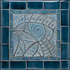 Blue Bird of Big Happiness by Lynne Meade (Ceramic Tile)