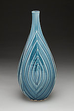 Blue Spiral Vase by Lynne Meade (Ceramic Vase)