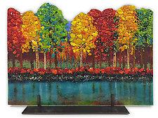 Creekside Wood by Anne Nye (Art Glass Sculpture)