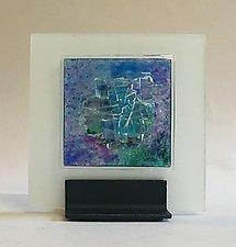 Aqua Blue I by Alicia Kelemen (Art Glass Sculpture)