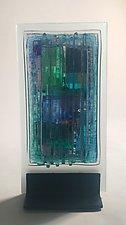 Aqua Lavender I by Alicia Kelemen (Art Glass Sculpture)