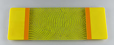 Medium Simple Yellow ColorCentric Plank by Terry Gomien (Art Glass Tray)