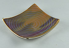 Subtle ColorCentric Fall Palette by Terry Gomien (Art Glass Candy Dish)
