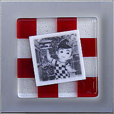 Ode to Bob's Big Boy (1022) by Doug Gillis (Art Glass Wall Sculpture)