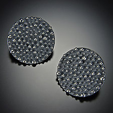 Bumpy Disc Earrings by Dahlia Kanner (Silver Earrings)