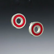 Circle Earrings by Ben Neubauer (Silver & Resin Earrings)